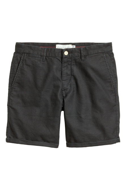Twill shorts in a linen blend
