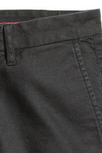 Twill shorts in a linen blend - Anthracite grey - Men | H&M CN 2
