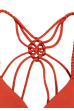 Push-up bikini top - Dark orange - Ladies | H&M CN 3