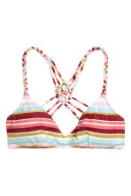 Triangle bikini top - Multistriped - Ladies | H&M CN 2