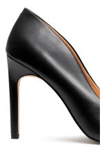 Leather court shoes - Black -  | H&M CN 4