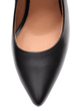 Leather court shoes - Black -  | H&M CN 3