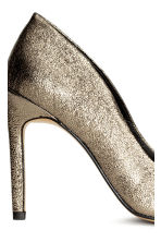 Leather court shoes - Gold -  | H&M CN 5
