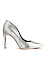 Leather court shoes - Silver -  | H&M CN 2