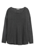 Fine-knit jumper - Dark grey marl -  | H&M CN 2