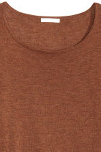 Fine-knit jumper - Rust -  | H&M CN 3