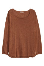 Fine-knit jumper - Rust -  | H&M CN 2