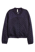 Quilted jacket with embroidery - Dark blue -  | H&M CN 2