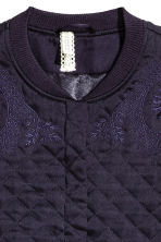 Quilted jacket with embroidery - Dark blue -  | H&M CN 3