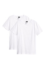 2-pack T-shirts Regular fit - White - Men | H&M CN 1