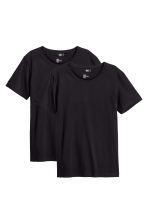 2-pack T-shirts Regular fit - Black - Men | H&M 1