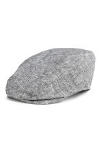 Linen-blend flat cap - Grey marl - Men | H&M CN 1
