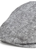 Linen-blend flat cap - Grey marl - Men | H&M CN 3
