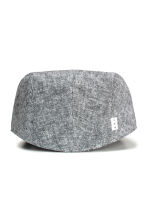 Linen-blend flat cap - Grey marl - Men | H&M CN 2