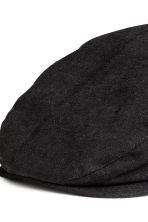 Linen-blend flat cap - Black - Men | H&M CN 4