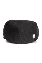 Linen-blend flat cap - Black - Men | H&M CN 2