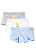 3-pack boxer briefs - White/Emoji - Kids | H&M CN 1