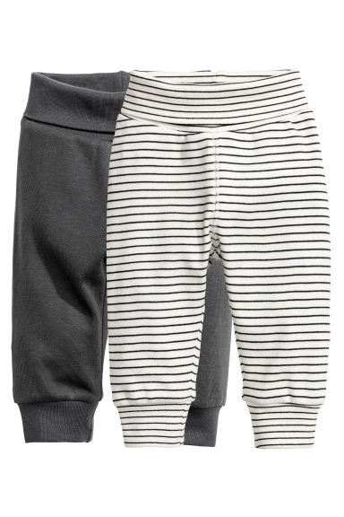 2-pack leggings - Dark grey - Kids | H&M CN 1