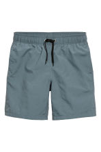Knee-length swim shorts - Blue-grey - Men | H&M CN 2