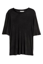 Top in a silk blend - Black - Ladies | H&M CN 2