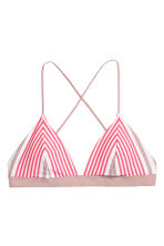 Triangle bikini top - Raspberry/Mole striped - Ladies | H&M CN 2