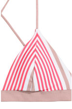 Triangle bikini top - Raspberry/Mole striped - Ladies | H&M CN 4