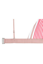 Triangle bikini top - Raspberry/Mole striped - Ladies | H&M CN 3