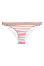 Bikini bottoms - Raspberry/Mole striped - Ladies | H&M CN 2