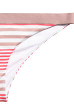 Bikini bottoms - Raspberry/Mole striped - Ladies | H&M CN 3