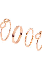 6-pack rings - Rose gold - Ladies | H&M 2
