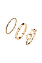 6-pack rings - Gold - Ladies | H&M 2