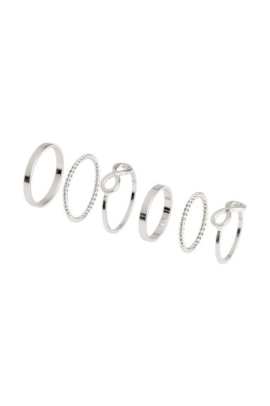 6-pack rings - Silver - Ladies | H&M 1