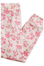 Jersey pyjamas - Light beige/Floral - Kids | H&M CN 4