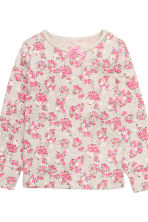 Jersey pyjamas - Light beige/Floral - Kids | H&M CN 3