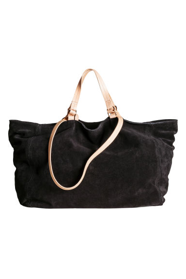 Suede shopper - Black - Ladies | H&M CN 1