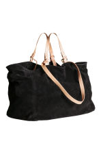 Suede shopper - Black - Ladies | H&M CN 2