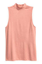 Sleeveless turtleneck top - Powder pink - Ladies | H&M CN 2