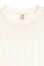 Pointelle top - Natural white - Ladies | H&M CN 3