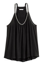 Beaded strappy top - Black - Ladies | H&M CN 1