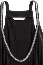 Beaded strappy top - Black - Ladies | H&M CN 2