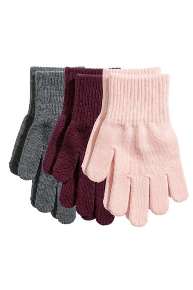 3-pack gloves - Light pink - Kids | H&M CN 1