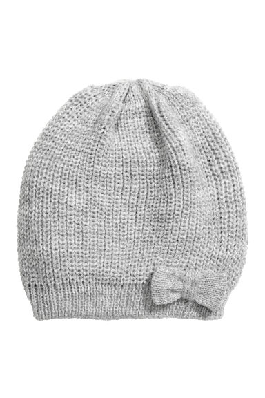 Rib-knit hat - Grey/Glitter - Kids | H&M CN 1