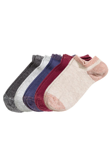 5-pack trainer socks - Light beige - Ladies | H&M CN 1