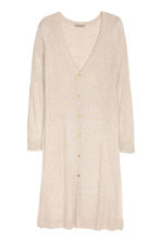 H&M+ Long cardigan - Light beige marl -  | H&M CN 2
