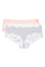 MAMA 2-pack shorts - White/Patterned - Ladies | H&M CN 2
