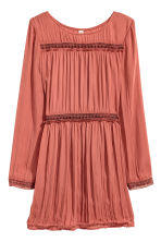 Dress with lace insets - Rust - Ladies | H&M CN 2