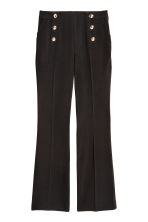 Pantaloni svasati - Nero -  | H&M IT 2