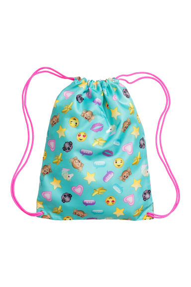 Gym bag - Turquoise/Emoji - Kids | H&M CN 1