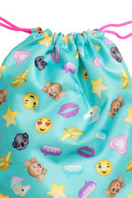 Gym bag - Turquoise/Emoji - Kids | H&M CN 2