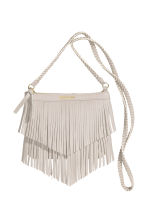 Fringed shoulder bag - Light beige -  | H&M CN 2